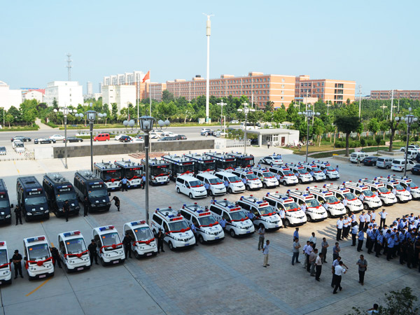 Police Cars in Huaiyang